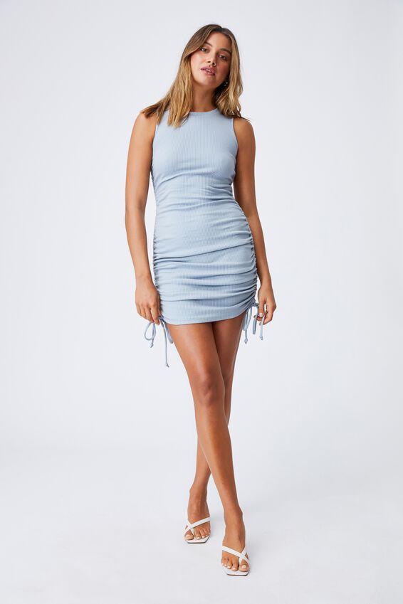 Frida Ruched Mini Dress, NEWPORT BLUE