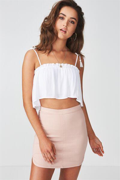 The Tyra Denim Skirt, RUST