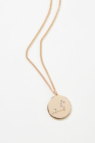 Horoscope Necklace, LEO/GOLD