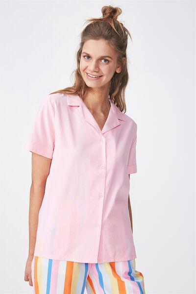 Cotton Sleep Shirt, PINK