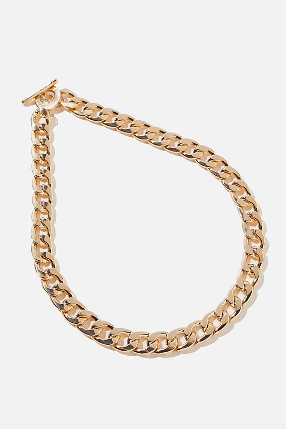 Chunky Chain Gold Necklace, CHUNKY CHAIN