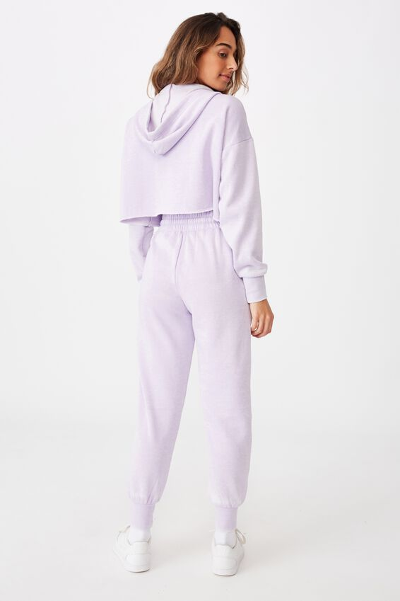 Paper Bag Waist Trackpant, WASHED COOL LAVENDER