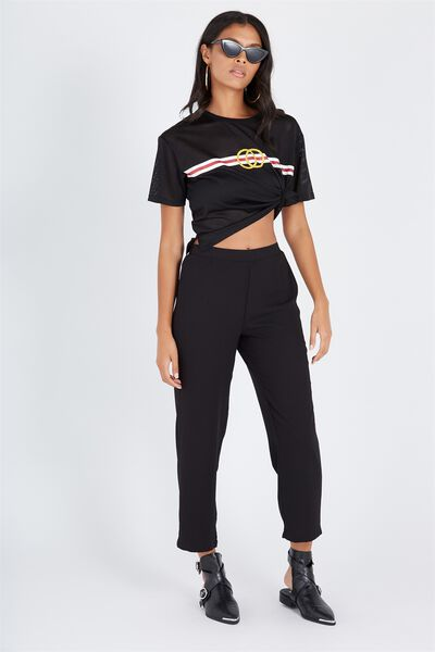Straight Leg Pant, BLACK