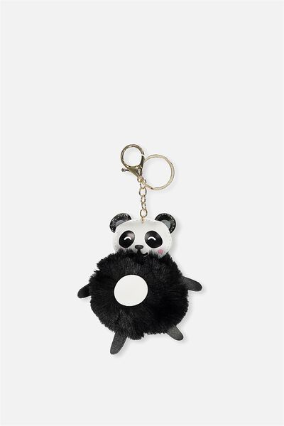 Animal Faux Fur Keyring, PANDA