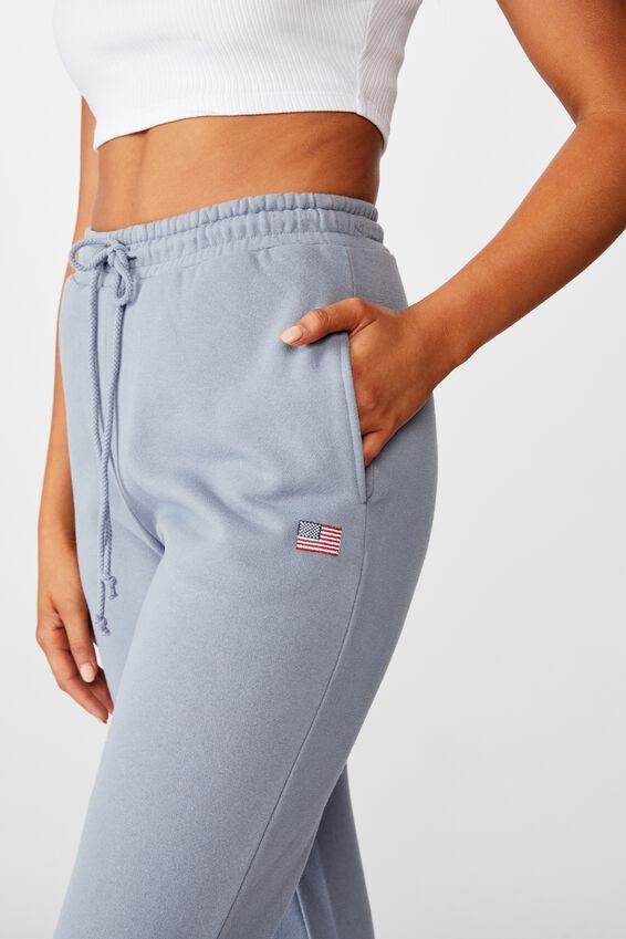 Nia Classic Track Pant, BLUE GREY USA FLAG