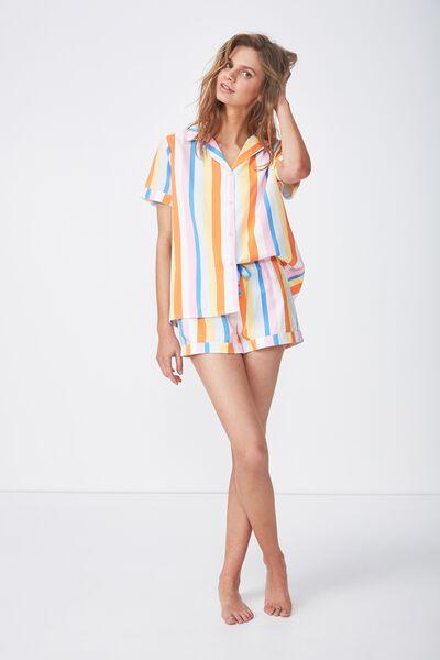 Cotton Sleep Shirt, MULTI STRIPE