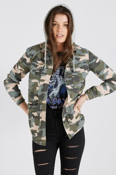 Hooded Camo Jacket, CAMO