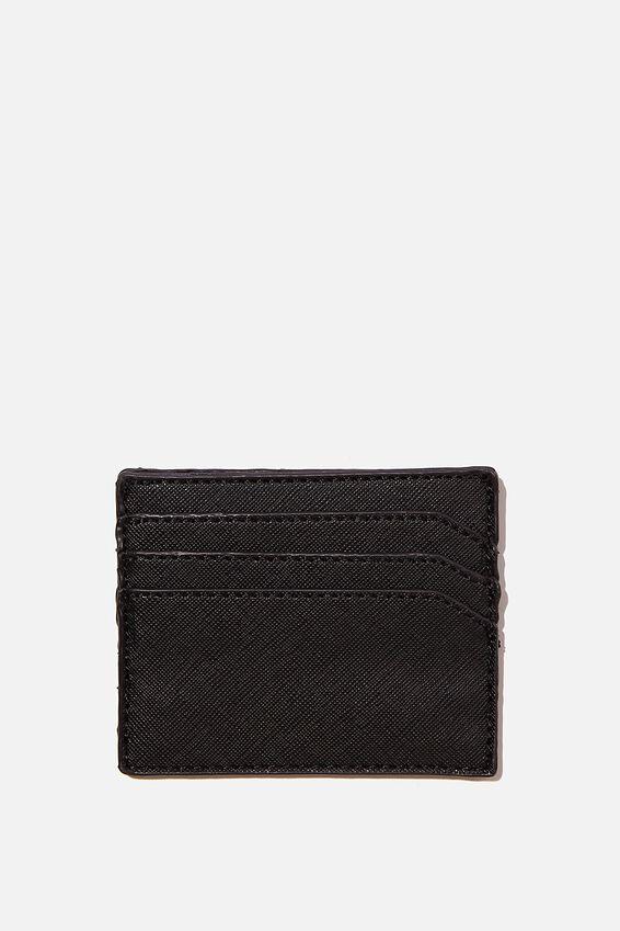Personalised Card Holder, BLACK TEXTURE