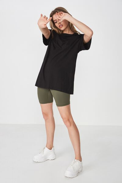 The Bike Short Oversized Tee, BLACK