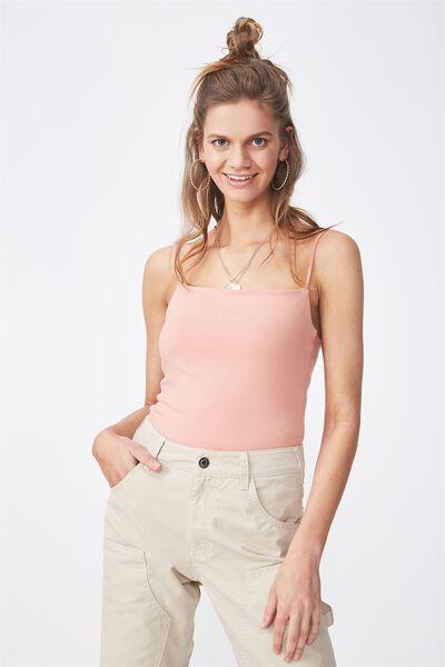 Basic Square Neck Bodysuit, ROSE DAWN