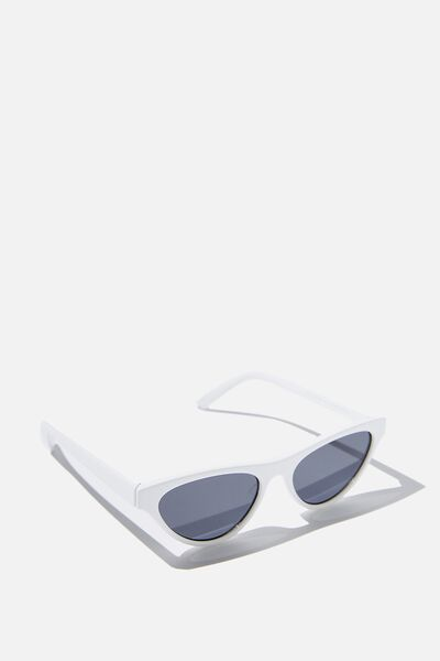 Dakota Cat Eye Sunglasses, WHITE/SMK