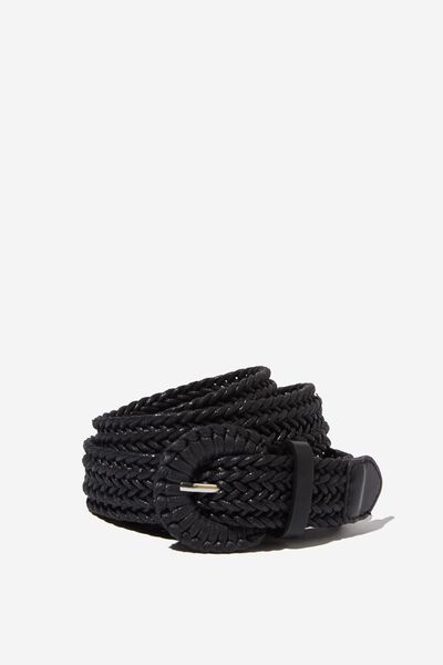 Emmy Textured Belt, BLACK