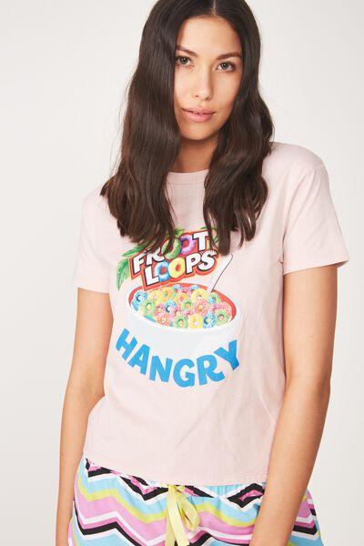 Lcn Kelloggs Fruit Loops Tee, PINK/HANGRY