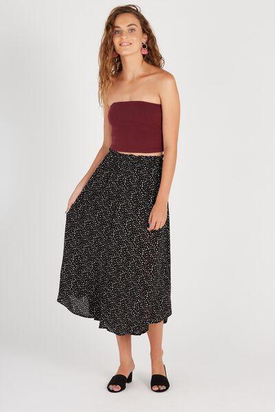 Button Through Maxi Skirt, DOT DITZY