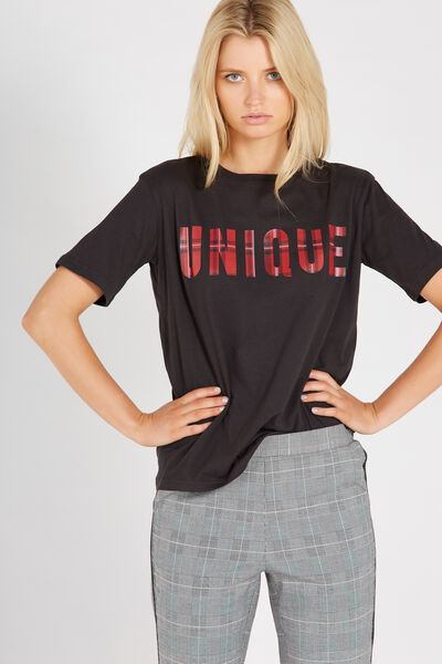 Graphic Tee, WASHED BLACK/UNIQUE