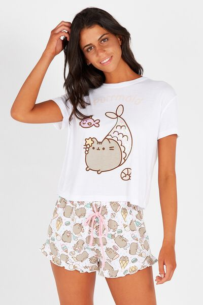 License Pusheen Sleep Short, PUSHEEN/WHITE
