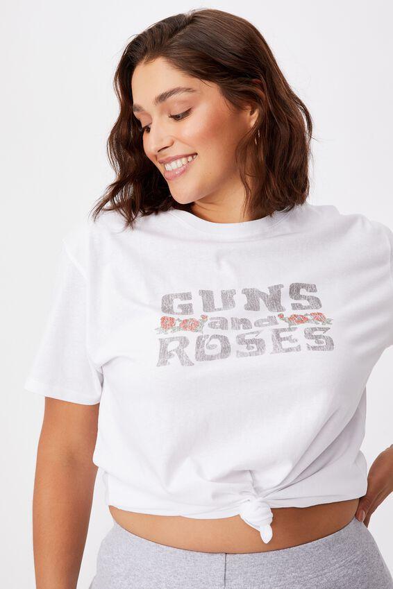 Guns n Roses Band T Shirt, WHITE/LCN BRA GUNS N ROSES