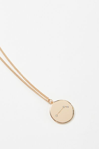 Horoscope Necklace, ARIES/GOLD