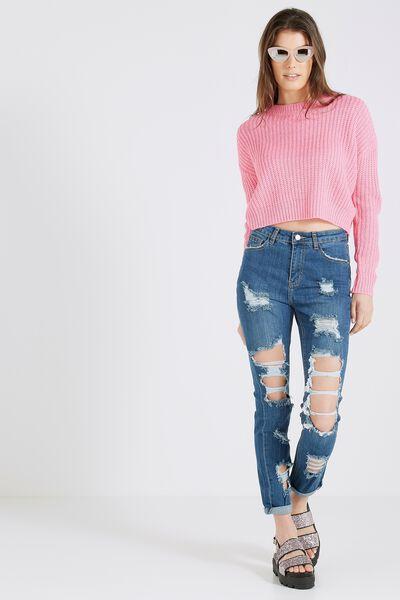 The Straighty Ultra Destroyed Jean, ORIGINAL DARK BLUE