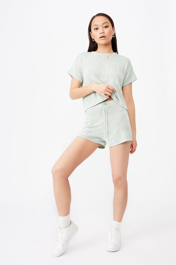 Brittany Tee Knit Co Ord, MINTY GREEN