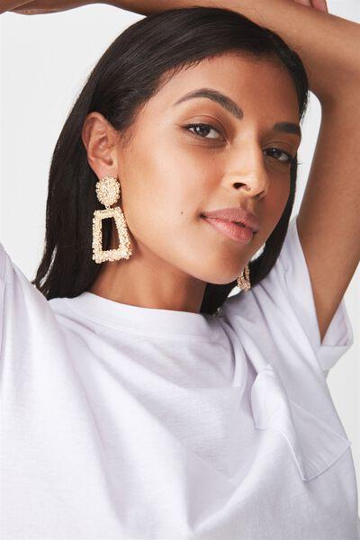 Paris Ornate Earrings, GOLD