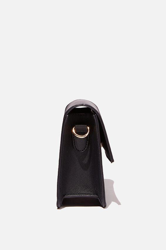 Personalised Isla Crossbody Bag, BLACK