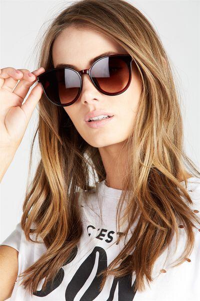 Natalie Lady Frame Sunglasses, BROWN