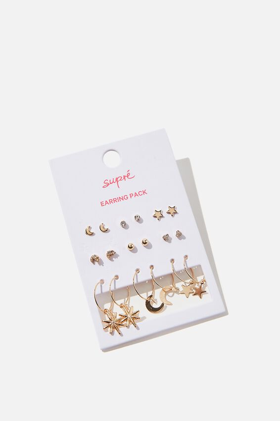Earring Pack, GOLD ASTROLOGY