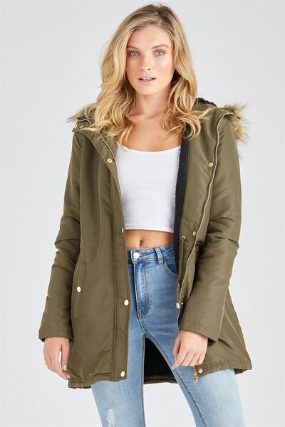 The Parka Jacket, KHAKI