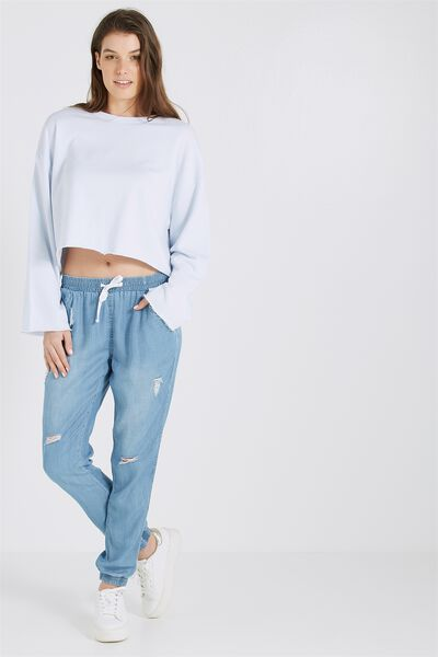 Destroy Chambray Relaxed Pant, CHAMBRAY