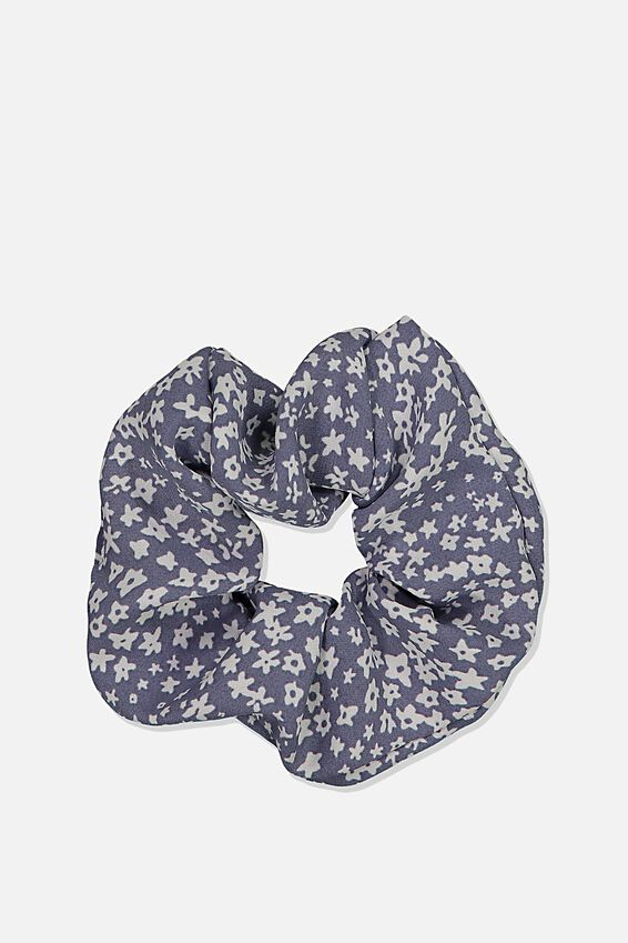 Wendy Ditsy Scrunchie, WENDY DITSY JEAN BLUE
