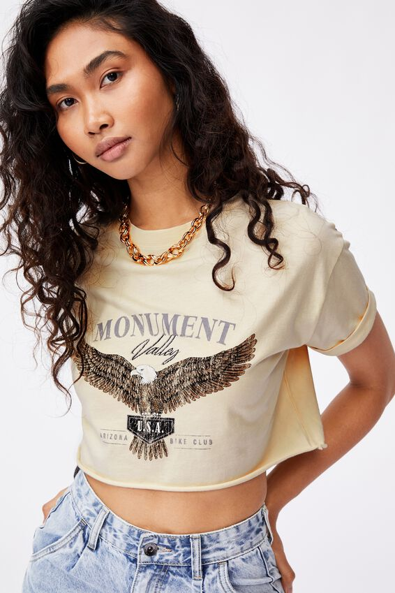 Eagle Crop Tee, CREAMY YELLOW/MONUMENT VALLEY