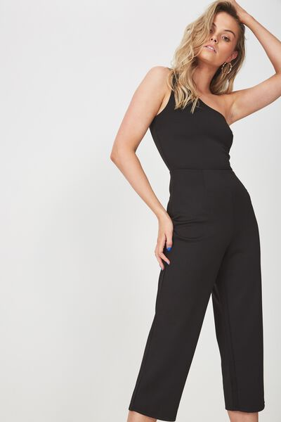 bb9356bfe19 Fitted One Shoulder Jumpsuit