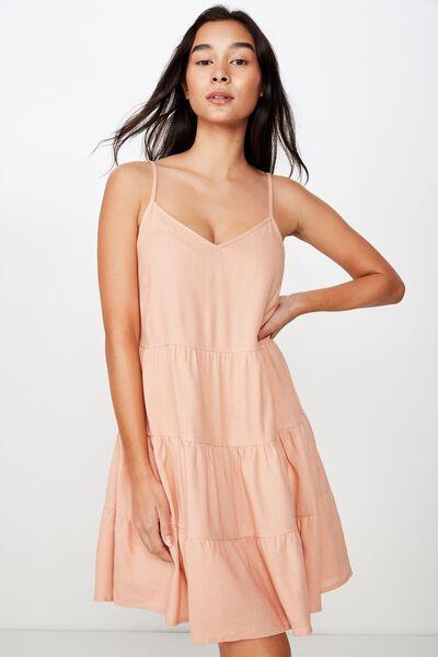 Sunlover Slip Dress, PEACH