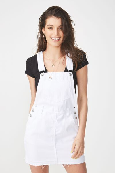 The Denim Pinafore, CLEAN WHITE