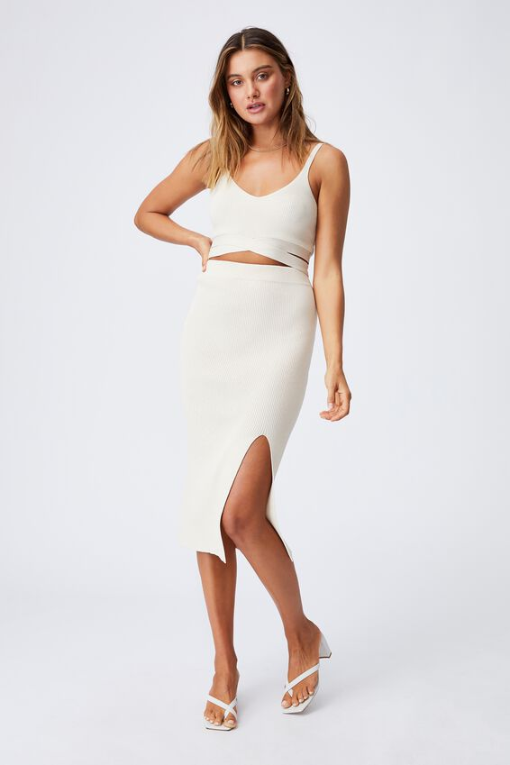 Audrey Midi Skirt Co Ord, SANDSTONE
