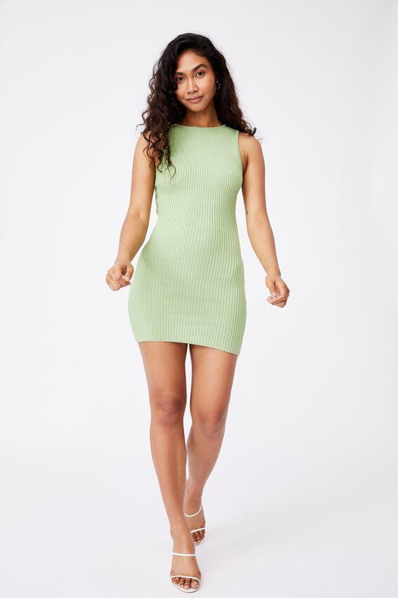 Pearl Reversible Mini Dress, APPLE GREEN