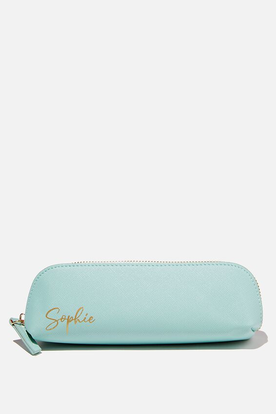 Personalised Pencil Case, MATCHA GREEN TEXTURE