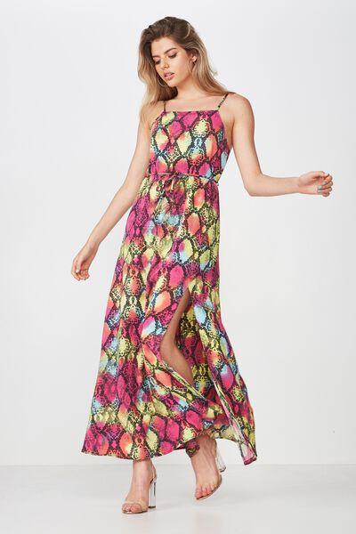 Strappy Maxi Dress, PARTY PYTHON