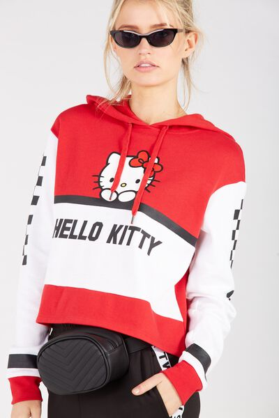 Hello Kitty Graphic Hoodie, RED/HELLO KITTY