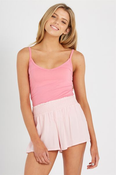 Shirred Summer Short, BLUSH