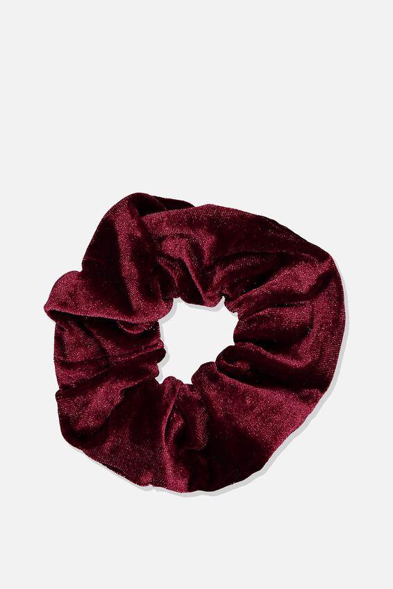 Velvet Scrunchie, PLUSH BURGUNDY