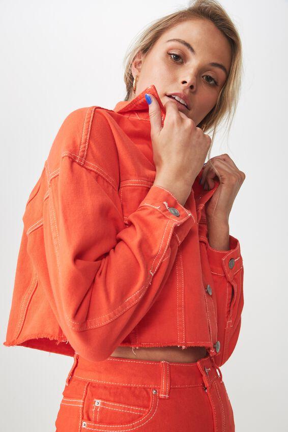 80S Slouchy Crop Denim Jacket at Cotton On in Brisbane, QLD | Tuggl