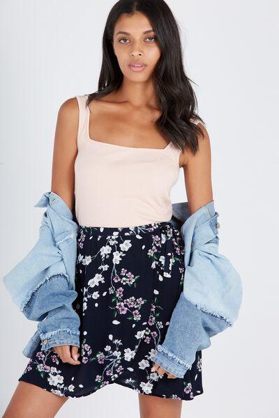 Poppy Mini Wrap Skirt, ORIENTAL BLOSSOM