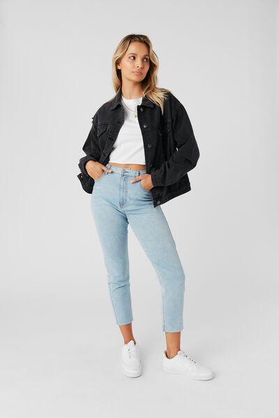80S Denim Jacket, VINTAGE BLACK