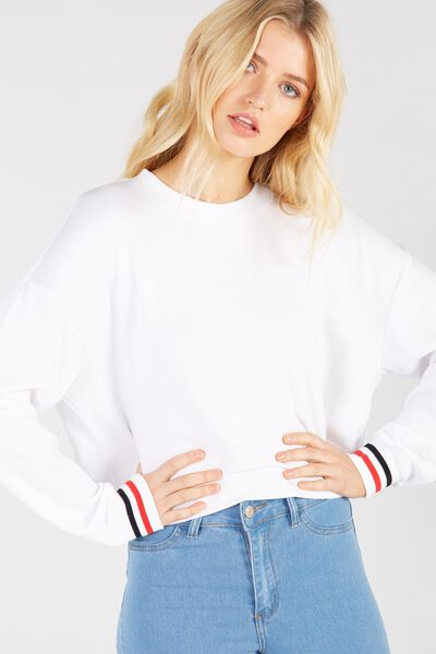 Slouch Sweat, WHITE