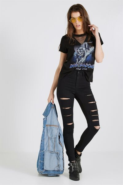 The Skinny Ultra Ripped Jean, BLACK
