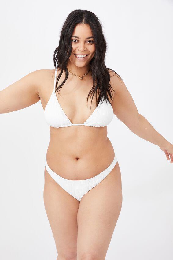 Maui Tri Slide Bikini Top, WHITE/SHIRRED