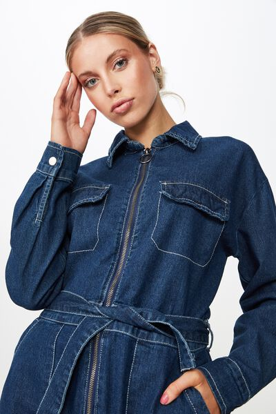 The Denim Boiler Suit, INDIGO