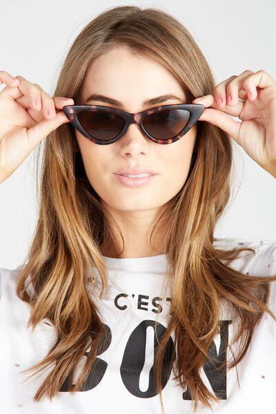 Roxy Cat Eye Sunglasses, BROWN TORT